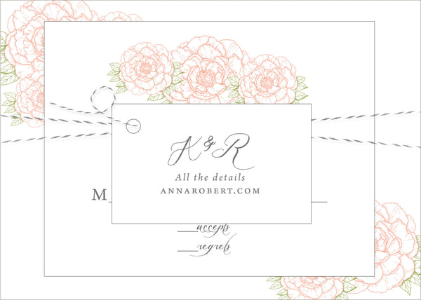 Peony Wedding Invitation Collection - IdeaChic  - 3