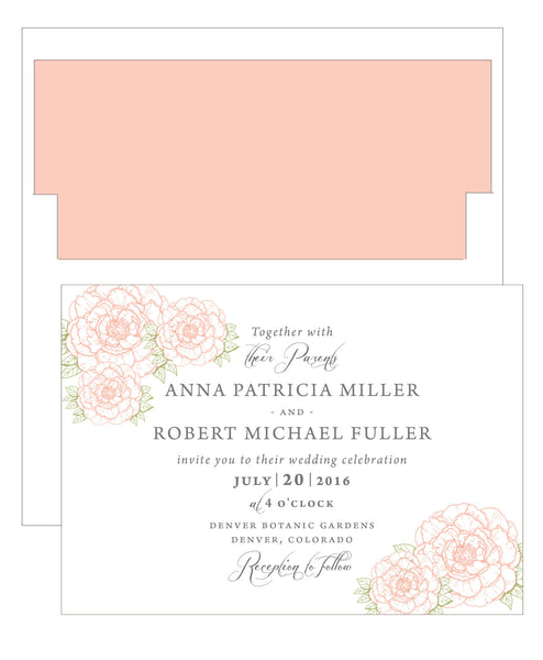 Peony Wedding Invitation Collection - IdeaChic  - 6