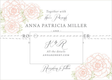 Peony Wedding Invitation Collection - Idea Chíc