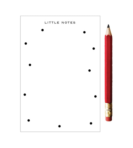 Little Notes Dotted Notepad with Red Pencil - Idea Chíc