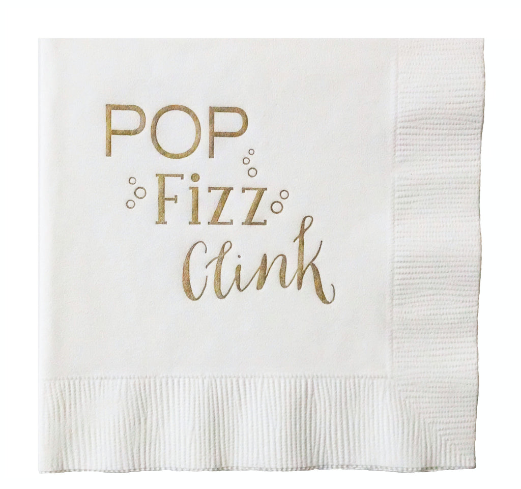 POP Fizz Clink Napkins - 20 pack - IdeaChic