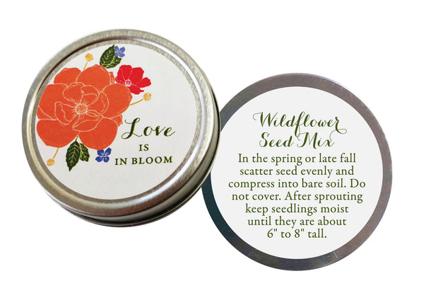 Love is in Bloom Wildflower Seed Favors | choose color - Idea Chíc