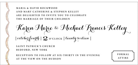 Sewn Arches Elegant Wedding Invitation Collection - Idea Chíc