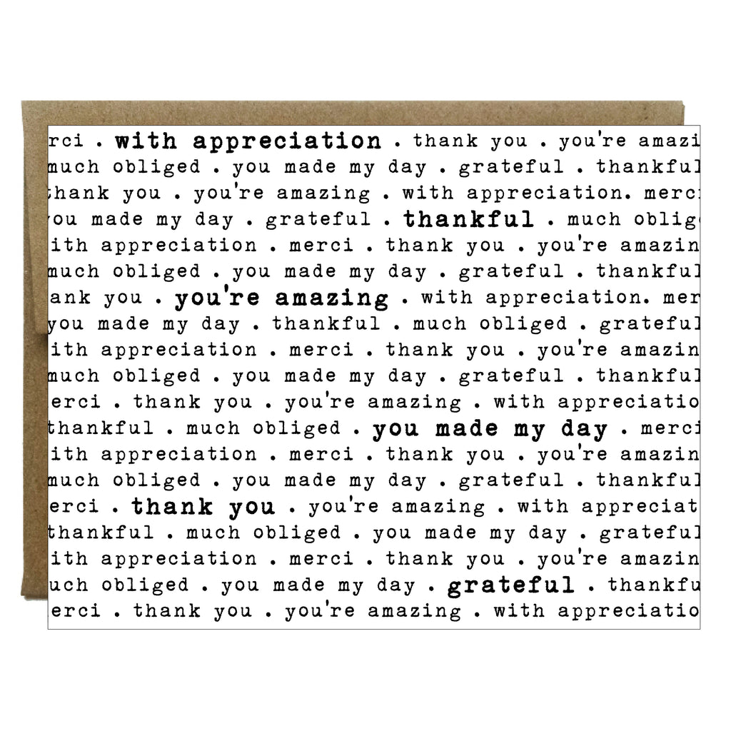 How to Say Thank You in Every Way Card - Idea Chíc