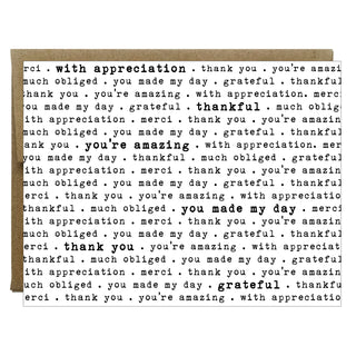 How to Say Thank You in Every Way Greeting Card