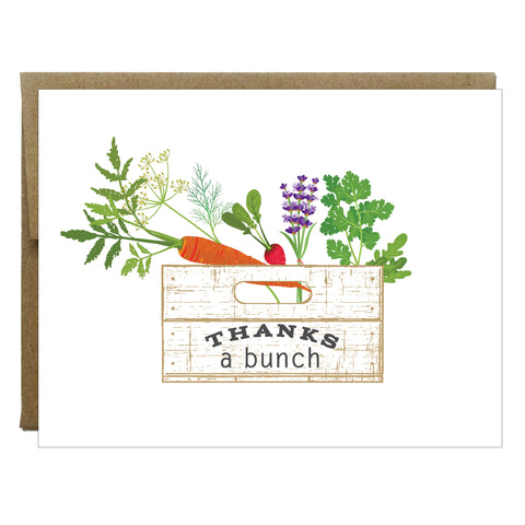 Thanks A Bunch Folded Card - Set of 8