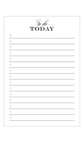 To Do Today Notepad - Idea Chíc