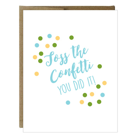 Toss the Confetti Greeting Card - Idea Chíc