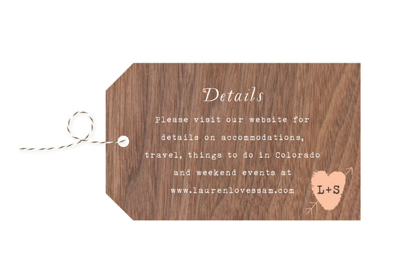 Trees with Thumbprint Carved Heart Wedding Invitation Collection - IdeaChic  - 6
