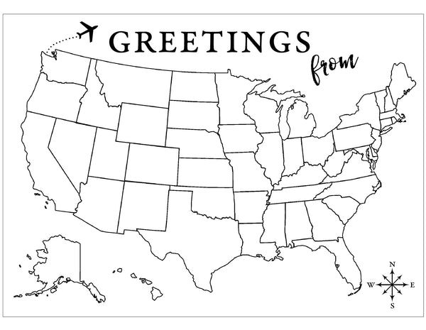 Greetings From Mark the Map Postcards - Set of 10 - Idea Chíc