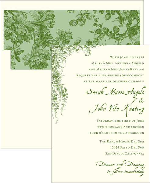 Vintage Garden Wedding Invitation - Idea Chíc