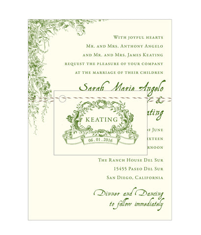 Vintage Garden Wedding Invitation - IdeaChic  - 1