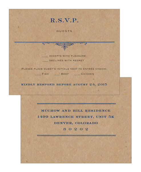 Rustic Vintage Travel Stamp Wedding Invitation Collection - Idea Chíc