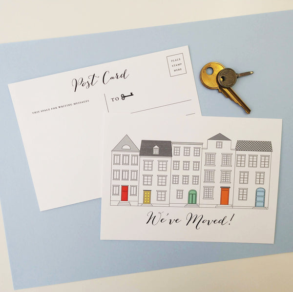 We Moved Urban Chic Home Postcards - Set of 10 - Idea Chíc