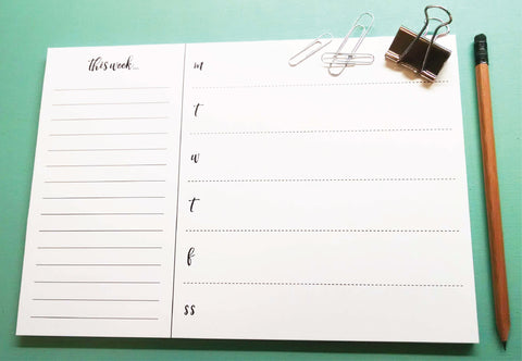 Chic Desk Weekly Planner Notepad - Idea Chíc