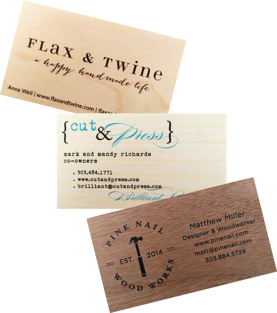 Business Cards | Calling Cards Printed on Real Wood Veneer Sets of ...