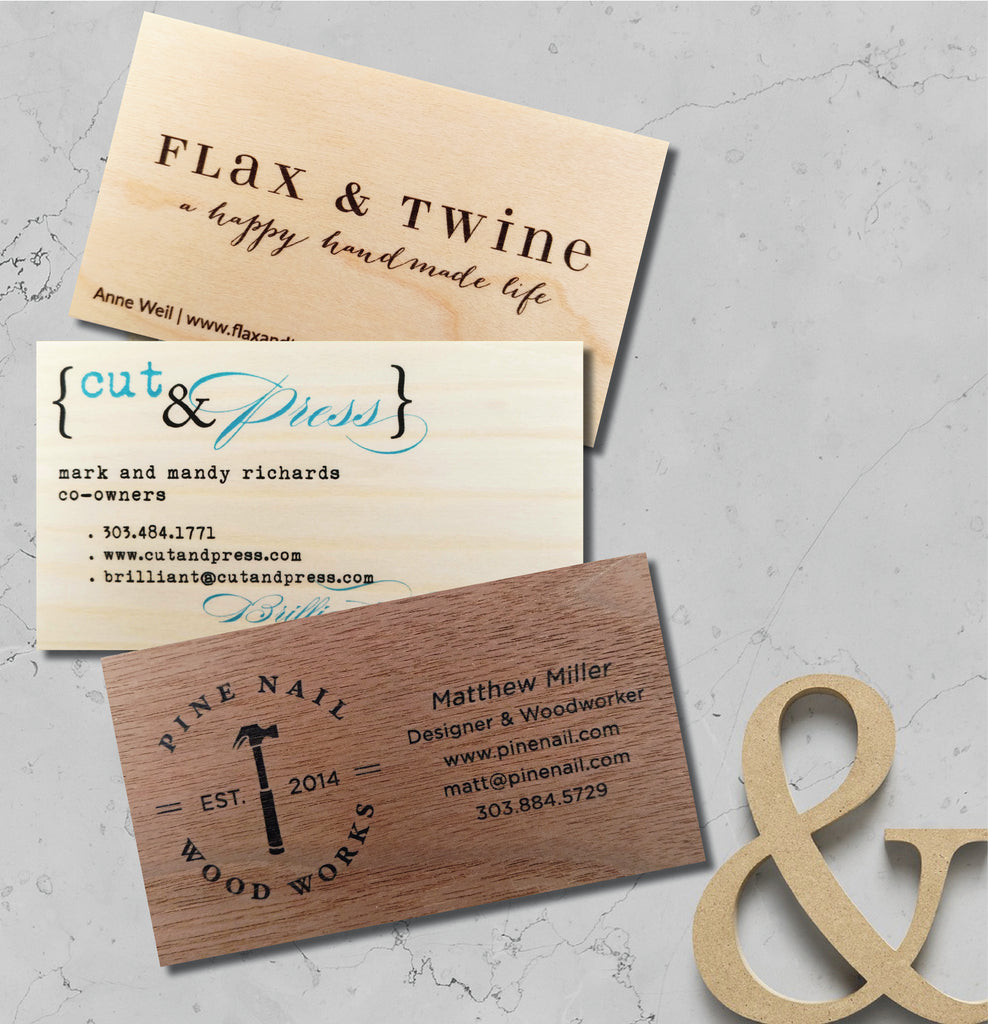 Business cards calling cards printed on real wood veneer sets of business cards calling cards printed on real wood veneer sets of 50 idea chc reheart