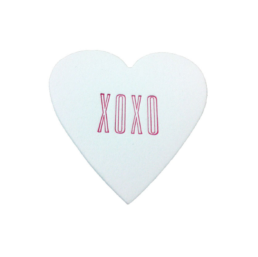 XOXO Mini Heart Note White Cotton with Glassine Sleeve - set of 4 - IdeaChic  - 1