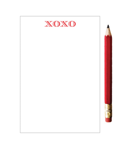 Mini XOXO Notepad with Red Pencil - Idea Chíc