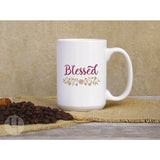 Floral Blessed Coffee Mug - FREE Shipping!