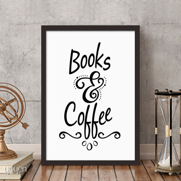 looks & Coffee Print. This typographic print makes a great gift for the book and coffee lover in your life.