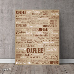 Coffee Guide Print. A great gift idea for the coffee lover in your life.