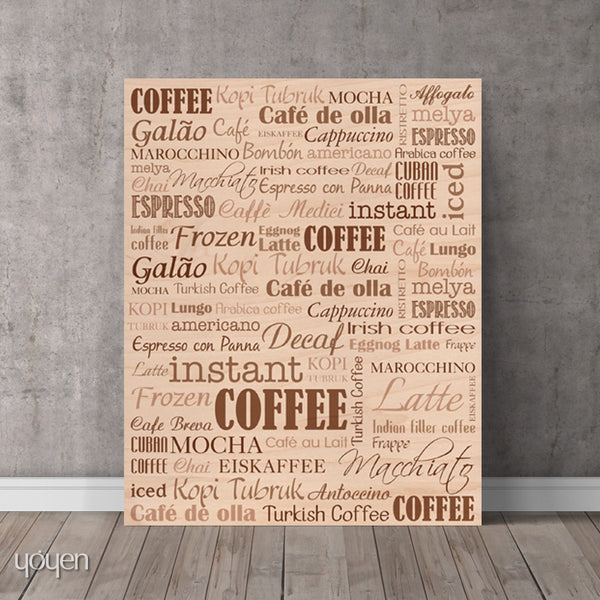 Coffee Guide typographic print. Coffee lover gift idea.