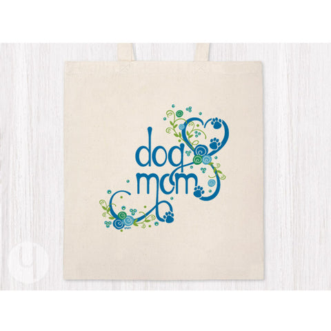Pet Mom Heart Tote Bag (Blue) - Dog or Cat!