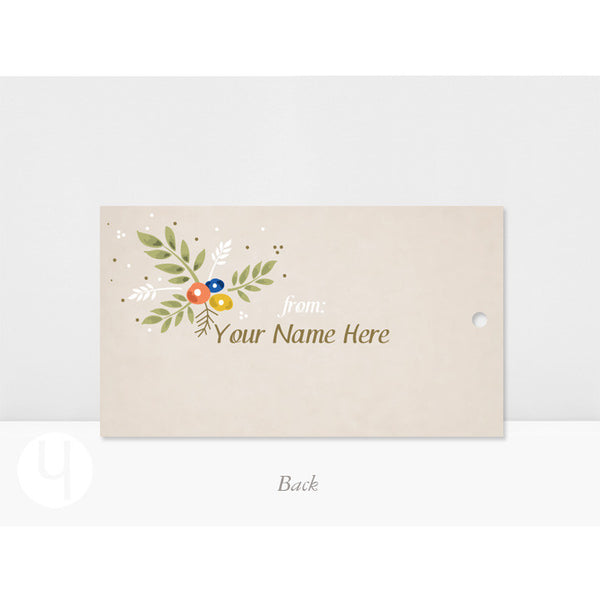 personalized Floral sage gft and favor tags