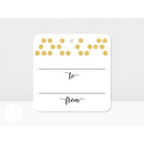 Black/Gold Dots Tags (Set of 12)