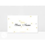 Personalized XOXO Gold White Dots Gift Tags Back