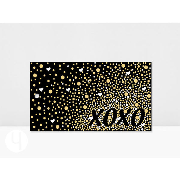 Personalized XOXO Gold White Dots Gift Tags Front