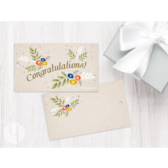 Congratulations! Floral Sage Gift Tags (Set of 12)