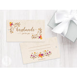 floral swirls gift and favor tag