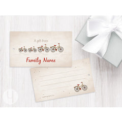 Personalized Family Bikes Gift Tags