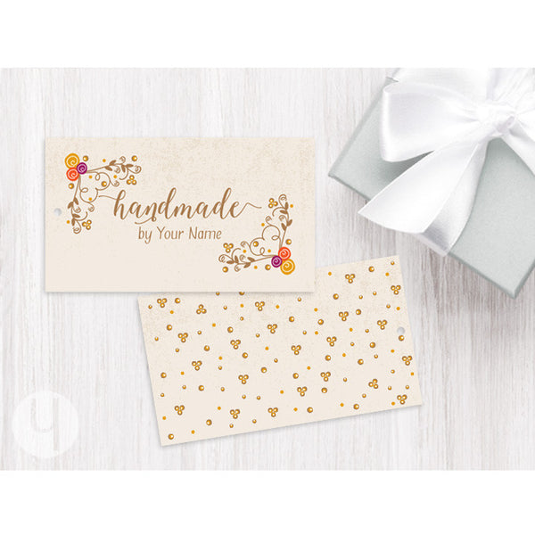 personalized floral swirls gift and favor tag