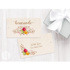personalized fruit swirls gift and favor tag