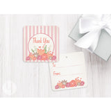 thank you gift tags pink stripes