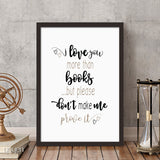 Mix and match! Book Lover Prints. Home and office Decor.