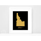 Wanderlust World Map Print. Faux Gold Foil Map Print. Gift Idea for the Traveler. State Pride Print.