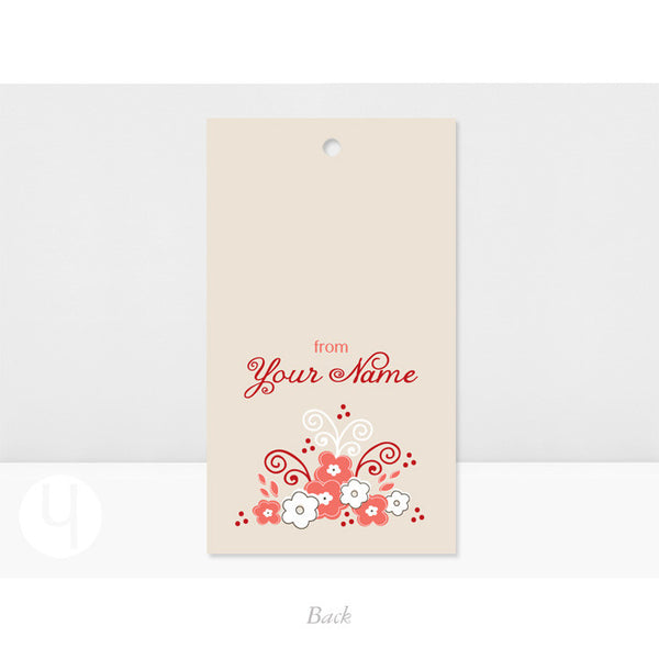 Personalized Red Cake Gift Tags