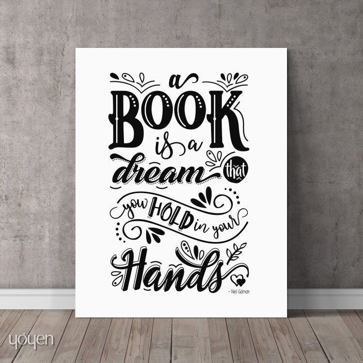 A Book Is a Dream That... Print - FREE Shipping – Yoyen | Gifts and ...