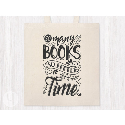 So Many Books so Little Time Tote Bag - FREE Shipping