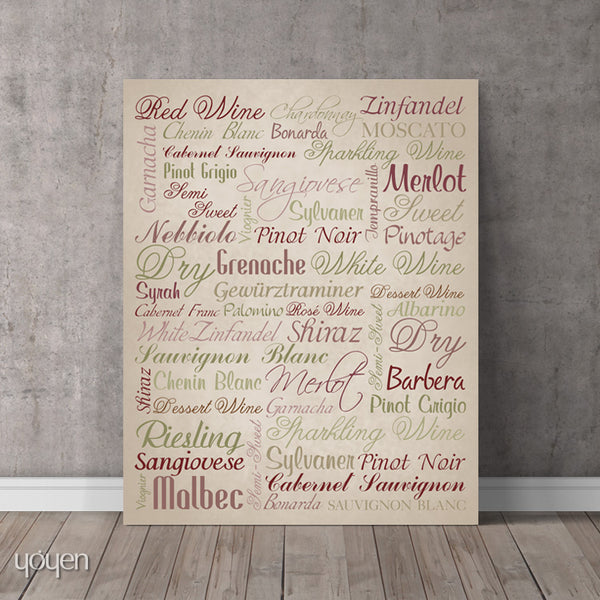 Wine Guide Print - FREE Shipping