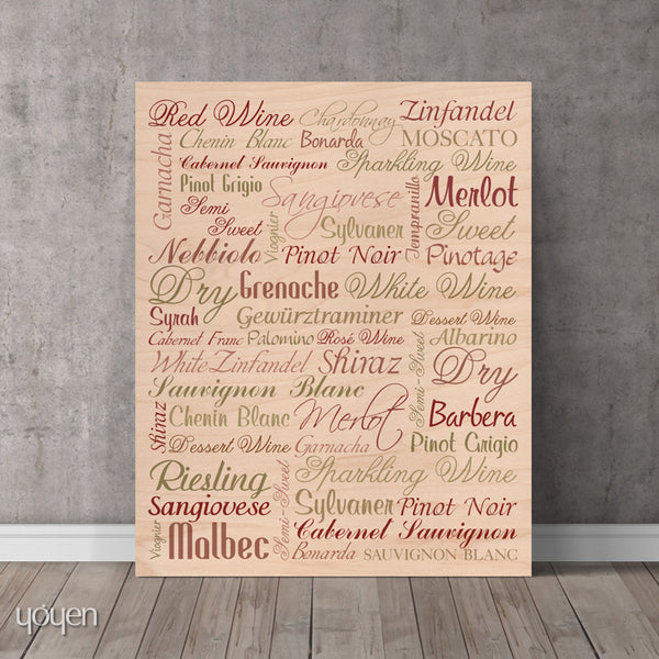 Wine Guide (Wood) Print - FREE Shipping
