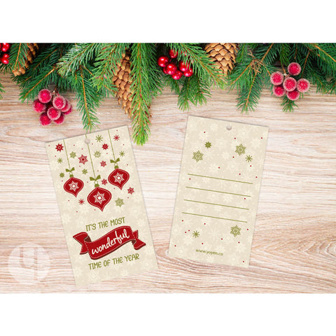 Christmas Ornaments Gift Tags (Set of 12)