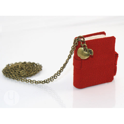 Crimson Red MiniBook Necklace MBCR-101