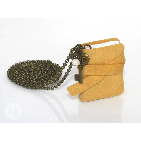Golden Yellow MiniBook Necklace MBGY-101