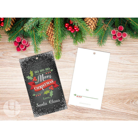 Signed by Santa Christmas Gift Tags