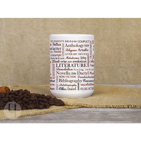 Literature Typographic Large Coffee Mug - FREE Shipping